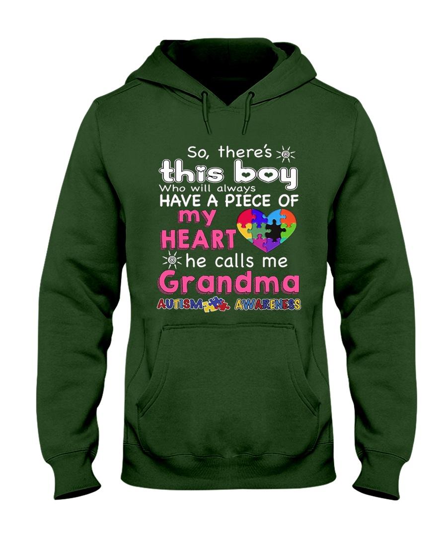 GRANDMA AUTISM AWARENESS AUTISM DAY SHIRT Hooded Sweatshirt