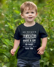 Don't Mess With Me My Crazy Grandma Slap You So Youth T-Shirt lifestyle-youth-tshirt-front-3