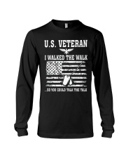 US VETERAN I WALKED THE WALK Long Sleeve Tee thumbnail