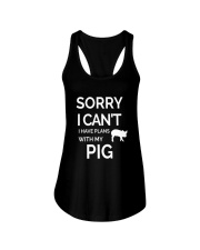 SORRY I CANT I HAVE PLANS WITH MY PIG Ladies Flowy Tank thumbnail