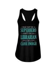 SUPERHERO LIBRARIAN CLOSE ENOUGH Ladies Flowy Tank thumbnail