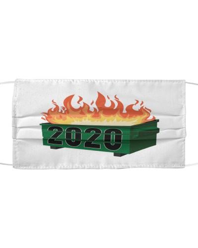 2020 dumpster fire cloth face mask