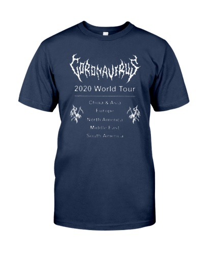 coronavirus world tour t shirt