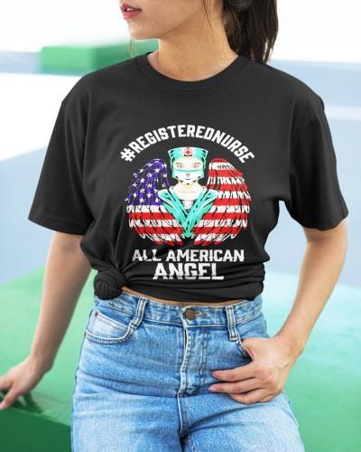 Registered Nurse All American Angel 4th Of July Shirt
