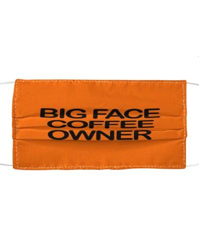 big face coffee cloth face mask