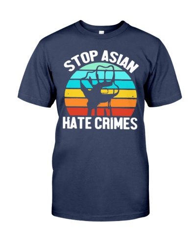 American stop Asian hate crimes vintage shirt