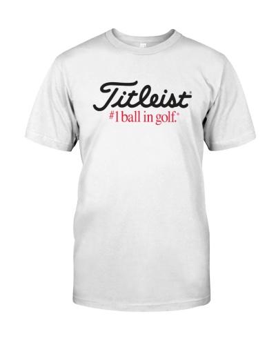 titleist 1 ball in golf shirt