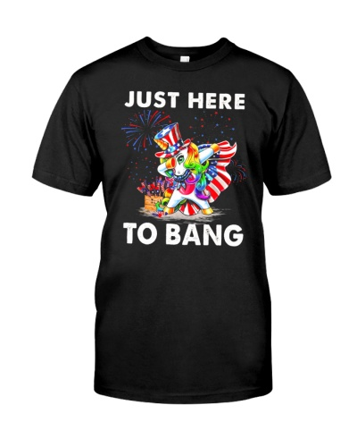 4th Of July 2021 Just Here To Bang Shirt
