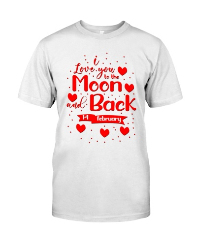 i love you moon and back valentines day 2021 shirt