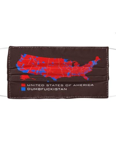 united states of america dumbfuckistan cloth face mask