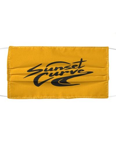 sunset curve cloth face mask