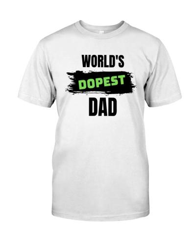 worlds dopest dad t shirt