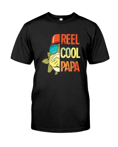 reel cool papa fishing t shirt