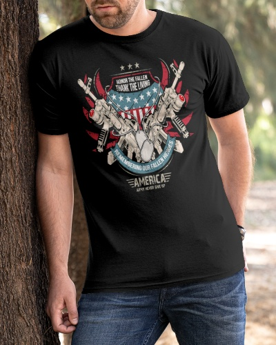 american army never give up shirt