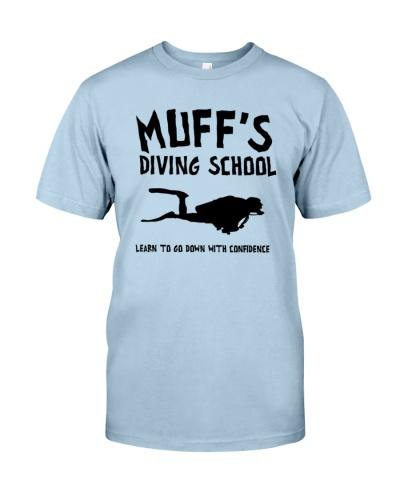 muffs diving school t shirt