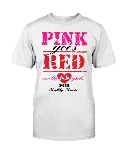 pink goes red shirt