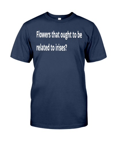 flowers that ought to be related to irises crossword shirt