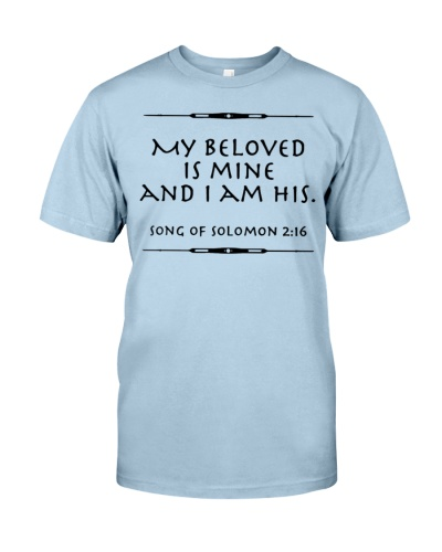 My beloved is mine Waterproof Wall shirt