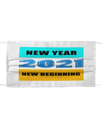 New year 2021 New Beinning cloth face mask