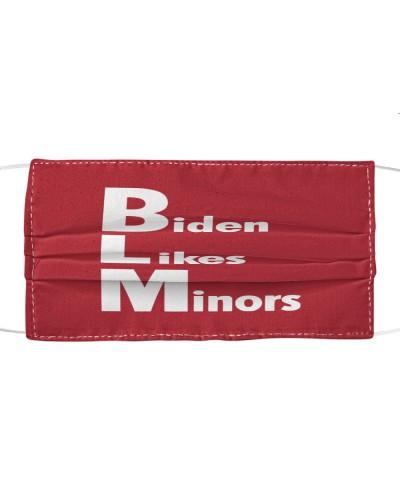 biden likes minors cloth face mask