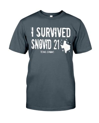 I Survived Snovid 21 Texas Strong Shirt