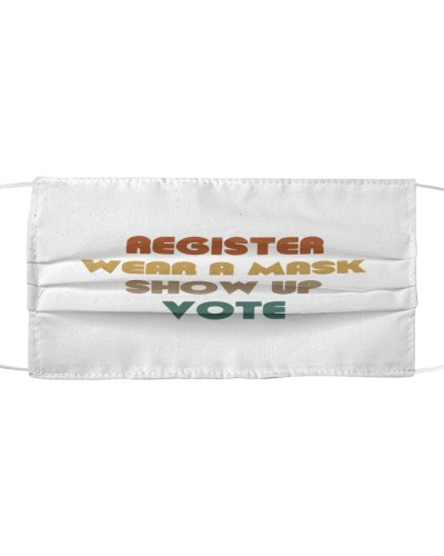 can you wear a political to vote cloth face mask