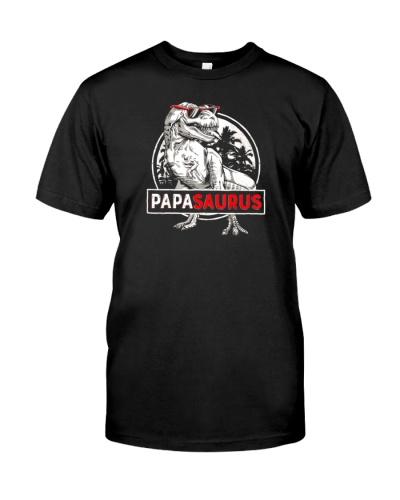 Fathers Day Papasaurus T Rex Dinosaur Papa Saurus Shirt
