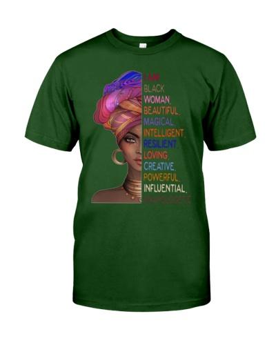 i am black woman beautifful magical loving shirt