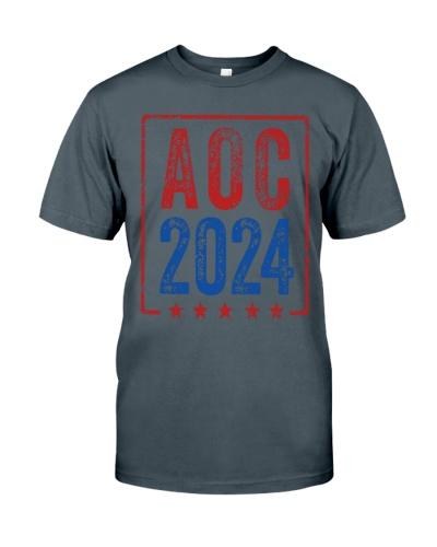 Alexandria Ocasio Cortez for President AOC 2024 Shirt