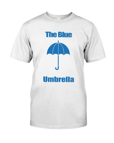 the blue umbrella shirt