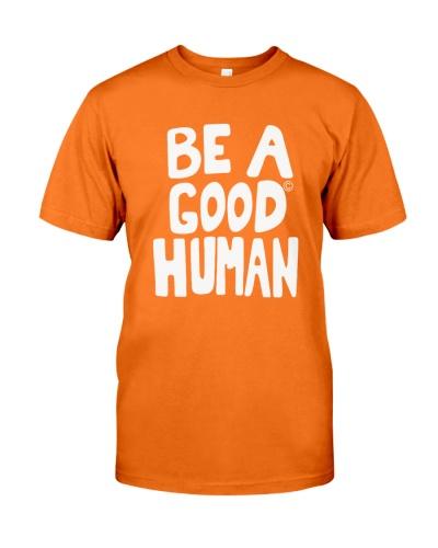 nomad be a good human shirt
