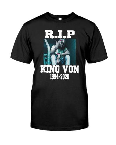 king von no shirt