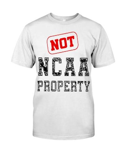 not ncaa property merch shirt