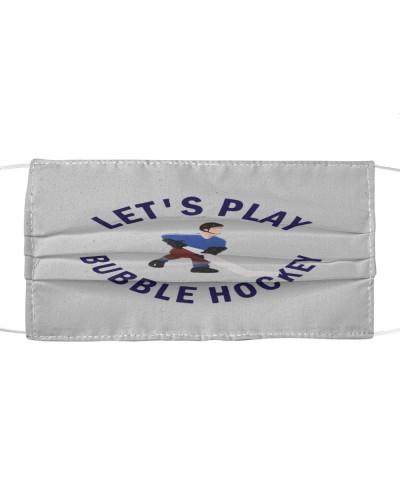lets play bubble hockey cloth face mask