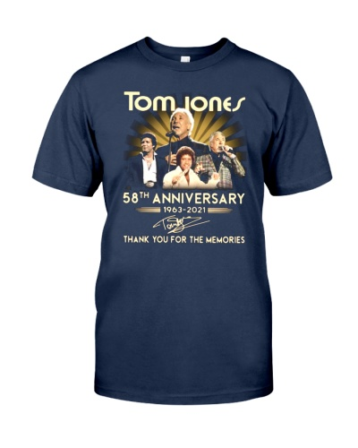Tom Jones 58th Anniversary 1963 2021 Thank You For The Memories Shirt