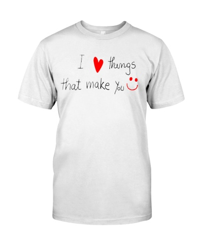 i love things that make you smile valentine shirt