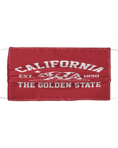 California Est 1850 The Golden State cloth face mask