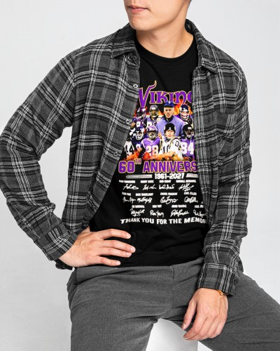 The Viking 60TH Anniversary 1961 2021 thank You for the memories signatures shirt
