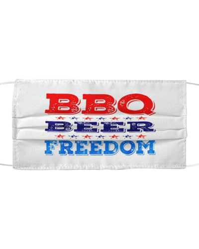 bbq beer freedom cloth face mask