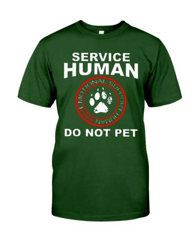 emotional support human shirt