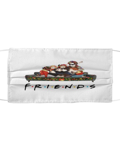 friends christmas cloth face mask