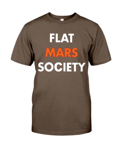 flat mars society t shirt