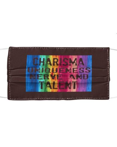charisma uniqueness nerve and talent cloth face mask