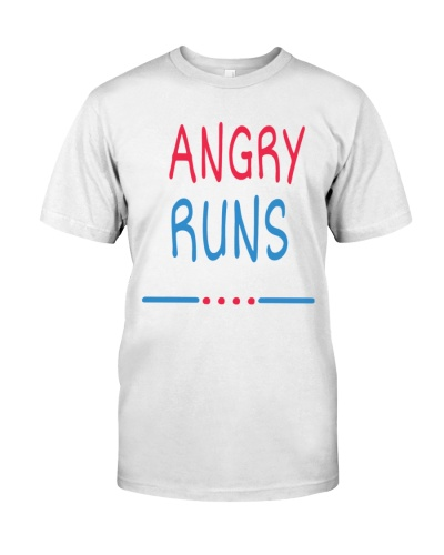 angry runs t shirt