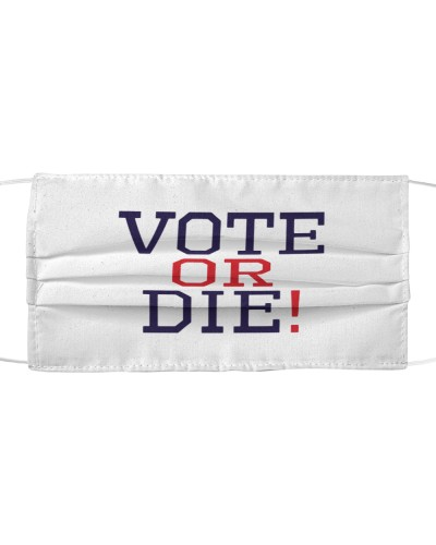 vote or die cloth face mask