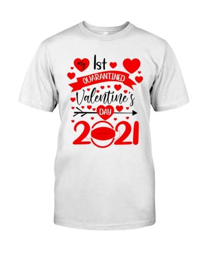 my 1st quarantined valentines day 2021 t shirt