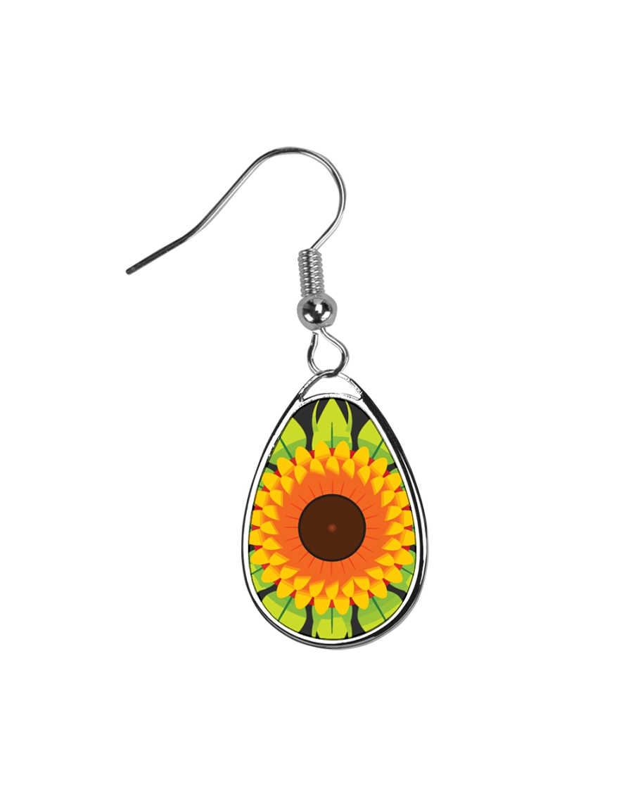 Flower Arts Design  Teardrop Earrings