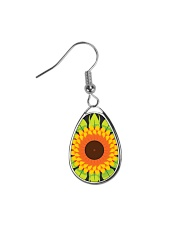 Flower Arts Design  Teardrop Earrings front