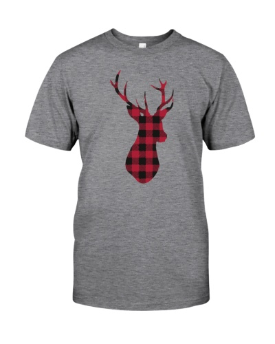 Plaid Reindeer Shirt Christmas T shirt