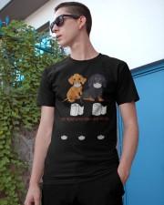 Dachshund Quarantined Classic T-Shirt apparel-classic-tshirt-lifestyle-17